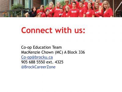 Co-op Contact Slide