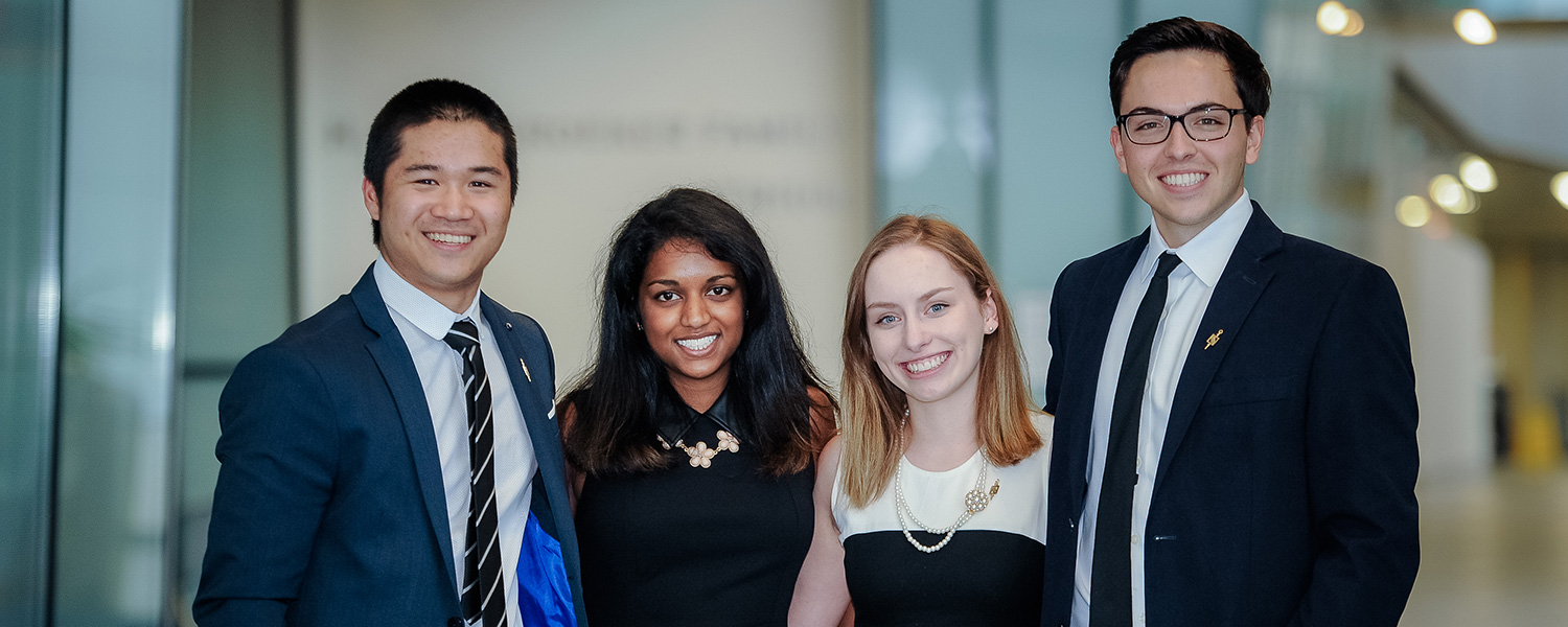 Goodman School of Business Students at a Beta Gamma Sigma event at Brock