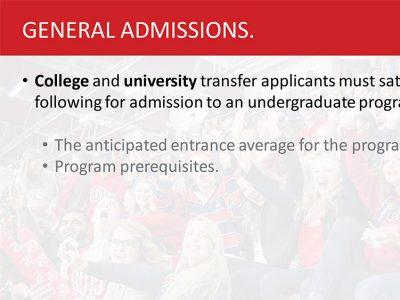 Transfer General Admissions Slide