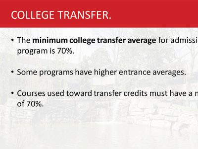 Transfer Admissions Slide