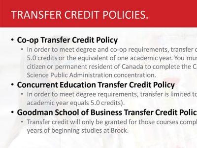 Transfer Credit Slide