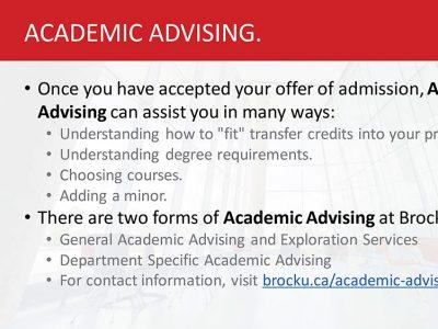 Academic Advising Slide